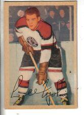 "1953-54 Parkhurst Hockey Card #72 Lidio ""Lee"" Fogolin Chicago Black Hawks EX."