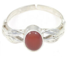 DARK RED ONYX RING JEWELRY SIZE 8 ADJUSTABLE GENUINE 925 STERLING SILVER ARTISAN