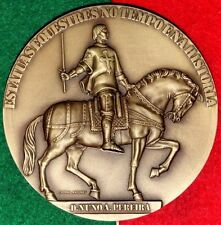 SOLDIER / GENERAL / SAINT D. NUNO A. PEREIRA ON HORSE STATUE/BRONZE MEDAL M.23a