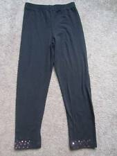 #7 Girls Pants Black Basic Edition Leggings with Pink Sequins Sz. M 7/8