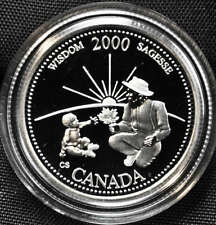 2000 Canada 25 cents Proof Silver Coin - Wisdom