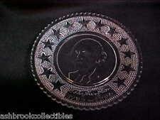 Vintage Crystal Glass George Washington Mini Plate Coasters