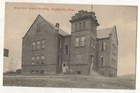 West Side School Building, CROOKSVILLE OH Vintage Ohio Postcard