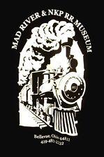 MAD RIVER & NKP RR Museum lrg T shirt Bellevue railroad OHIO tee Nickel Plate Rd