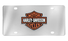 Harley-Davidson Colored Bar and Shield Chrome Decorative Vanity License Plate