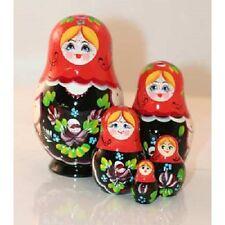 Russian Nesting Dolls Matryoshka 5 Pcs Lizonka Signed by Artist New