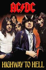 AC/DC Highyway To Hell Angus Young Bon Scott Sticker or Magnet