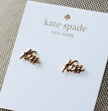 """Kate Spade AUTHENTIC """"SIGNED SEALED DELIVERED"""" KISS KISS STUD EARRINGS NWT"""