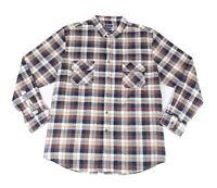 Club Room Mens Shirt Blue Size 3XL Plaid Print Dual Pocket Button Down $55 #100