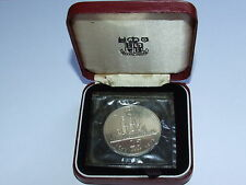 St Helena Silver Proof 1973 25p Tercentenary Coin Fully Seal / Cased Royal Mint