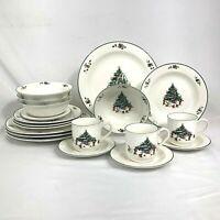 19 PIECE SET SALEM WHIMSICAL CHRISTMAS DINNERWARE DINNER SALAD CUP SAUCER BOWL
