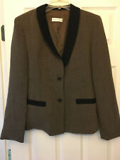 GARFIELD & MARKS Suit Coat - Olive Green With Black Trim - Size 8