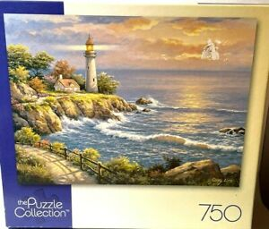 Mega Brands The Puzzle Collection Sunset At Lighthouse Point Jigsaw 500 Pcs 12+