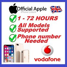 Express Unlock Service For iPhone 5 5S 5C SE 6 6+ 6S 6S+ 7 7+ Plus Vodafone UK