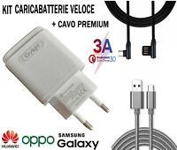 CARICABATTERIA⚡3A CAVO USB Type C RICARICA VELOCE DATI 90° Samsung A40 S9 HUAWEI