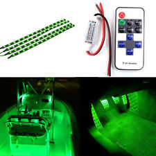 A set Boat Wireless Remote Control Motorcycle Green LED Light Strip Kit