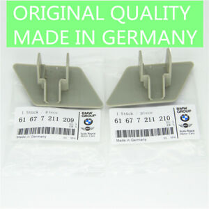 Grey Headlight Washer Nozzle Cap Cover 1 Pair for BMW E90 323i 328i 61677211209