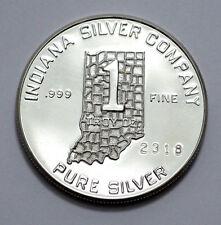 VERY RARE 1975 1 OZ ENGELHARD MINT BICENTENNIAL INDIANA SILVER CO. 999FINE ROUND