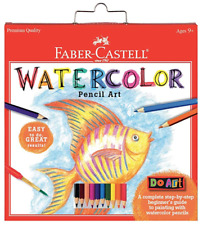 Faber-Castell 15 Piece Watercolor Pencil Paper Art Set for Beginners Ages 9+ New
