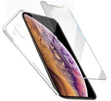 Für iPhone alle 5 bis Xr X max Panzer Glasfolie Transparent Hülle Silikon Schutz