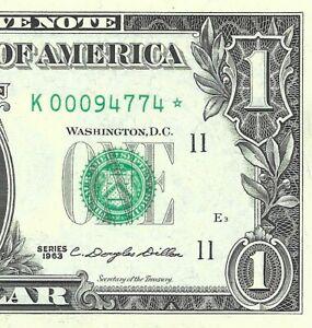 "1963 $1 DALLAS * STAR * ⭐️ FRN, CRISP & UNCIRCULATED BANKNOTE, """" MULE """""