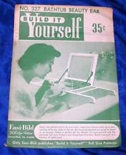 Unused Vtg Easi Bild Diy Woodworking Craft Pattern 327 Bathtub Beauty Bar