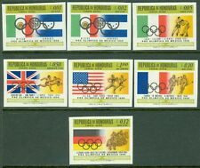 BRITISH HONDURAS : 1968. Scott #C439-45 Olympics. Imperf set. Very Fine, Mint NH