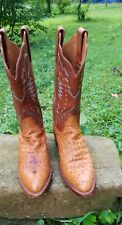 LUCCHESE 200 OSTRICH BOOTS WOMENS 8.5