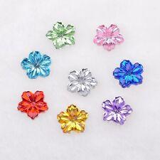 100pcs mix Crystal Spring Flower Appliques/Craft/Wedding Decoration R906