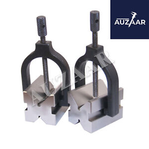 NEW Precision Engineers All Steel Vee Blocks Clamp Set - V Block Matched Pair