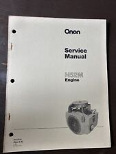 ONAN N52M Spec A-B  Engine Service Shop Manual Repair Book Overhaul Workshop