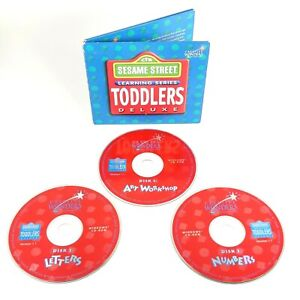 Sesame Street Learning Series Toddlers Deluxe PC Windows CD-Rom Disc Set 1995