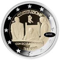 2 euros commémorative ITALIE 2018 - Constitution Italienne - Qualité UNC