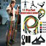 11Pcs/Set Resistance Bands Workout Exercise Tubes Yoga Crossfit Fitness Training