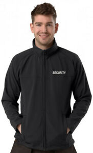 Embroidered SECURITY, Black Soft shell Jacket, Size S to 8XL