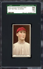 1912 T207 Rafael Almeida Red Cycle Reverse SGC 86 NM+ Cuban Pioneer & HOF'er