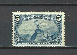#288 US 5 CENT BLUE TRANS.MISS-MINT-N/H-FINE-VF