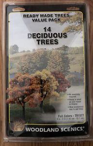 """Woodland Scenics TR1577 3"""" - 5"""" Fall Colors Deciduous Trees (Pack of 14)"""