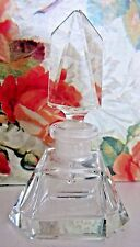 "Vintage Czech Perfume Bottle~Dauber Intact~Signed~3 1/2"" Tall~Collectible~Mint"