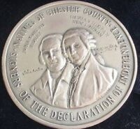 Chester County Signers Declaration of Independence Medal .999 Silver Serial #1