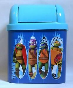 Trash Bin TEENAGE MUTANT NINJA TURTLES Desktop Mini Storage Waste Box 3 Colors