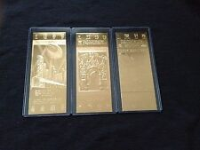 Washington Redskins Super Bowl XVII, XXII and XXVI 22kt Gold Ticket Set (NEW)