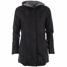 SIZE 4 - EX EX SMALL  ADIDAS NEO REVERSIBLE WOMENS PARKA JACKET - BLACK / GREY