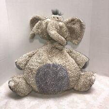 "Jellycat Elephant Tumblebum Elly 16"" Stuffed Animal Plush Lovey HTF Beige Gray"