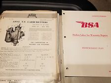 BSA Amal Carburetters Specs & Technical Info Sheets Dealer Folder