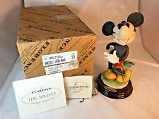 1997 Pie Eyed Mickey Mouse Giuseppe Armani Porcelain Figurine 0324C With Box