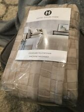 Hotel Collection Diamond Embroidery Quilted Standard Pillow Sham New $135