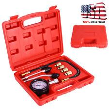 Engine Cylinder Compression Tester Kit Auto w/ Two Pressure Gauge Test Tool Set