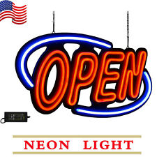 Neon Open Sign Light Large Bright Horizontal Business Shop Store 31.5X15.7