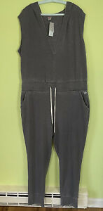 NWT LANE BRYANT ACTIVE GRAY ONE PIECE HOODED JUMPSUIT ROMPER SIZE 18/20 XL